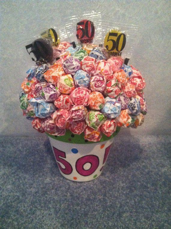 Lollipop Flower Arrangement  Great for by LiveLaughLooloo on Etsy, $21.00
