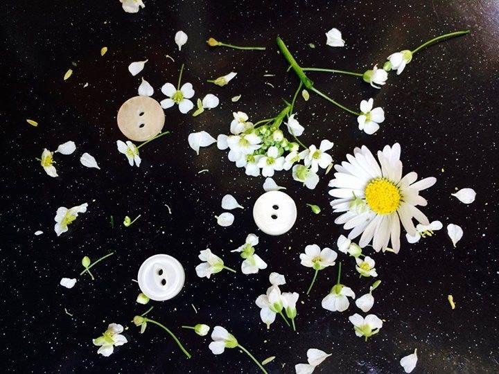 Come bianchi petali di rugiada #mabobuttons