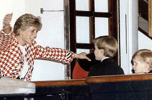Prince Diana welcomes her boys with arms open wide. One of my all time favorites.