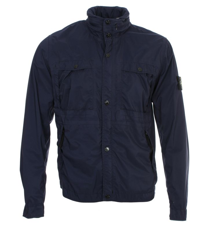 Stone Island Jackets. Stone Island Dark Navy Garment Dyed Performance Rip Stop Jacket