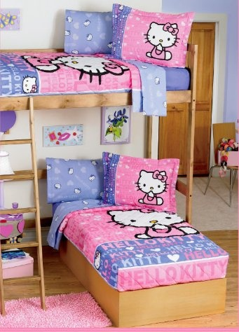 $109.90 Sanrio Hello Kitty Bunkbed Bedspread Set  From Sanrio Hello Kitty   Get it here: http://astore.amazon.com/allaboutyourbed-20/detail/B005HRFIDU/188-4852887-6189212