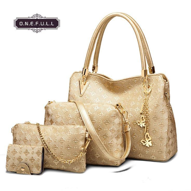 46.50$  Buy now - http://alishw.shopchina.info/go.php?t=32792145680 - women mother bag shoulder bag handbag 4pcs set 46.50$ #SHOPPING