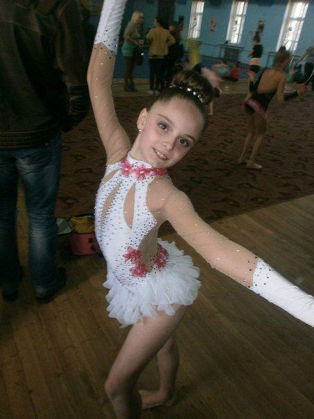 EUC White Pink rhythmic gymnastics leotard dance by TopLeotards                                                                                                                                                                                 もっと見る