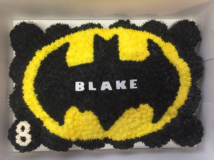 Batman cupcake cake