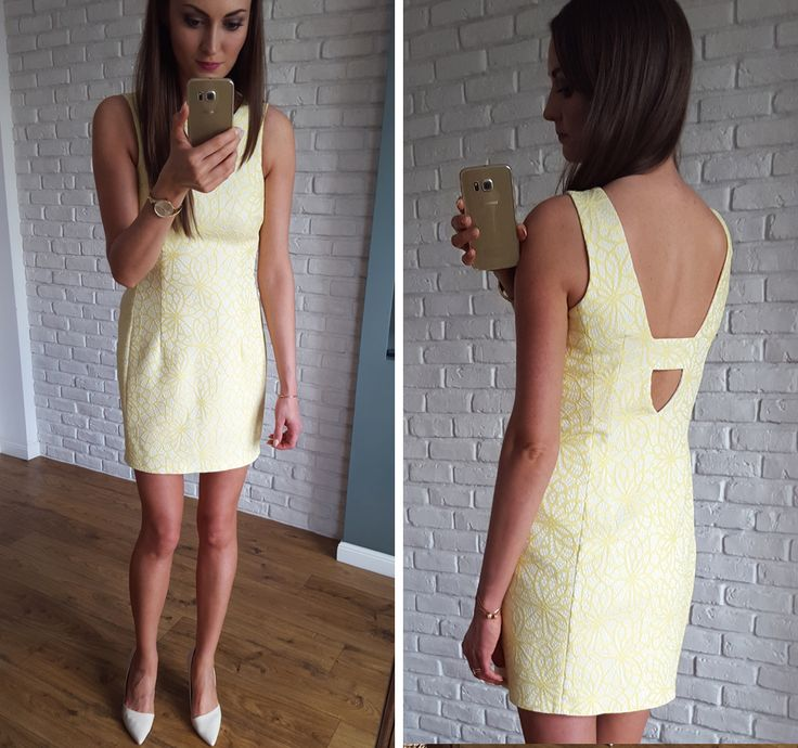 Żółta sukienka z dekoltem na plecach  169 zł  www.illuminate.pl