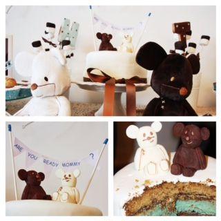 +mood: Baby shower T&H #baby #shower #cake #party #festa #imaginarium #babyshower #positivemood #+mood