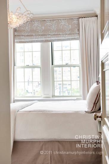 Love the window treatment fabric!