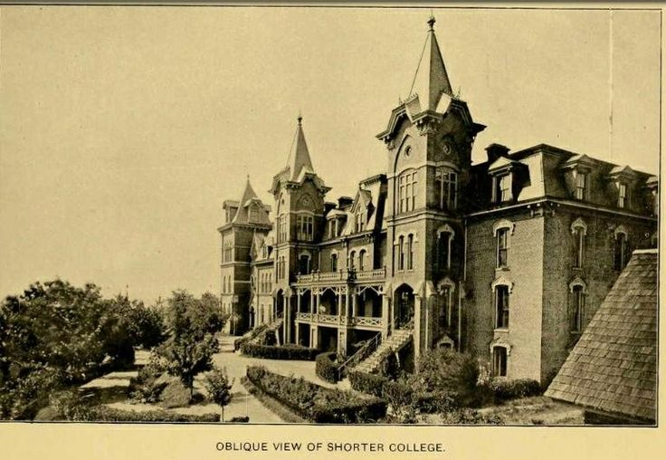 Former/Original Shorter College building in Rome, Georgia.  Destroyed by fire. The college; now Shorter University, moved to a different location and rebuilt.