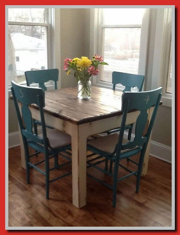 Rustic Farmhouse Kitchen Tiny House Home Living Table Small Etsy In 2021 Small Kitchen Tables Dining Room Small Rustic Farmhouse Kitchen
