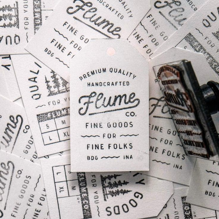 Create a stamp for a brand identity client...eco friendly, handmade, great design aesthetic |  ilham herry designed for @flume_co