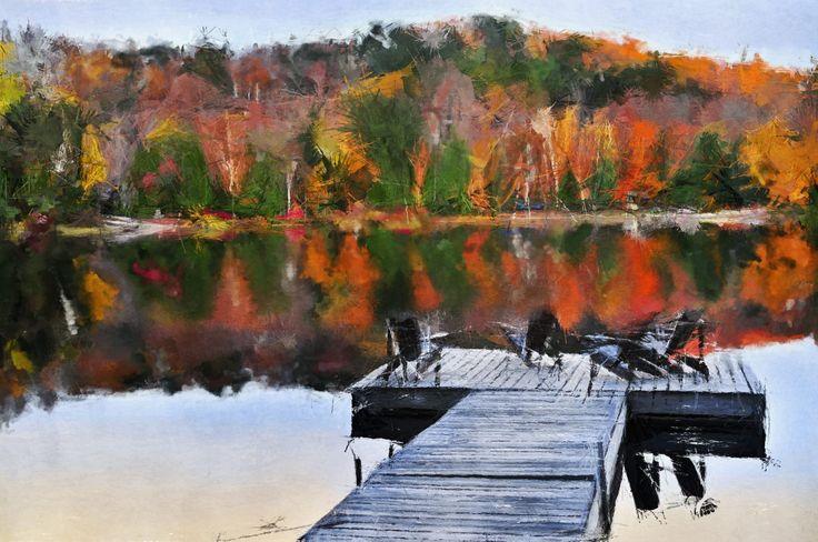 Autumn landscape #photodonut #painting #autumn