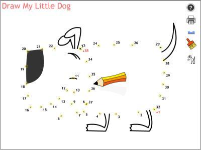 Actividades para Educación Infantil: Mi perro punto a punto ONLINEMALEN