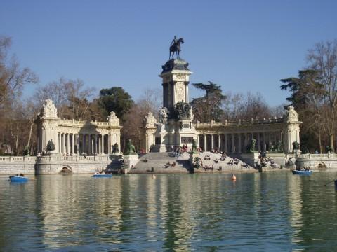 El parque del Retiro, Madrid, Spain The spot of many reflections.