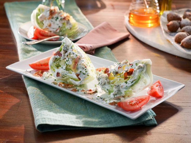Steakhouse Wedge Salad with Gorgonzola and Crispy Pancetta recipe from Valerie's Home Cooking via Food Network