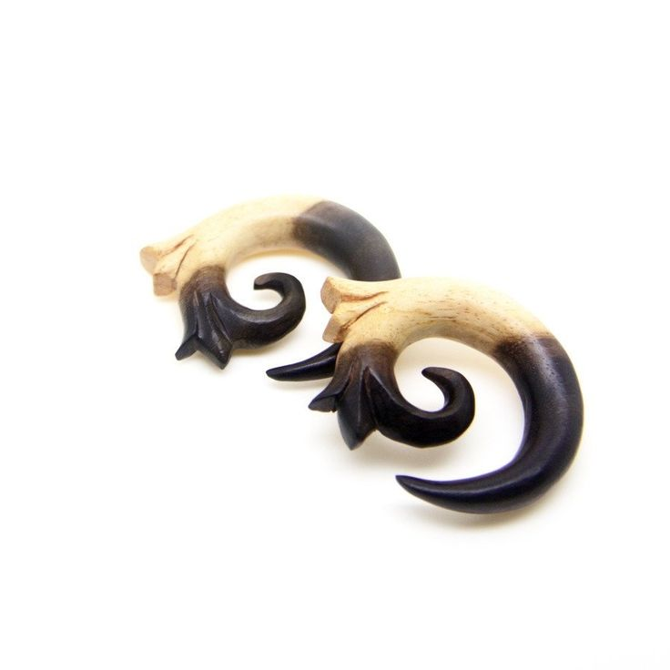 Double tone 000g spiral stretcher, 11mm ear weights #ayutribal #tictail #piercing #000g #earweights #taper