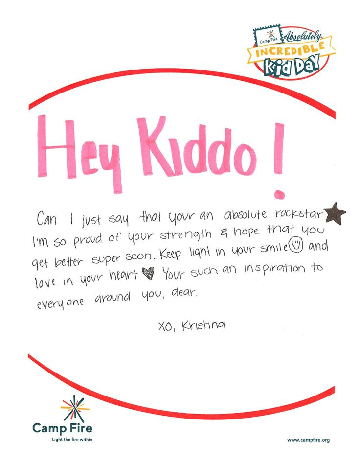 Incredible Kid Day Letter Examples