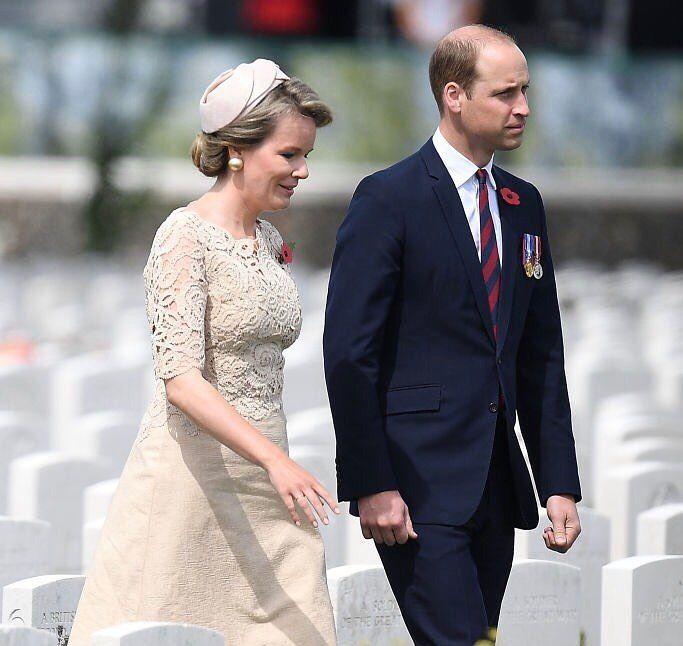 """HM The Queen of the Belgians on Instagram: """"31st July 2017 Leurs Majestés le Roi et la Reine participent à la commémoration de la Bataille de #Passchendaele, la Troisième Bataille…"""""""
