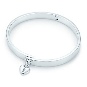 Tiffany  Co. | Item | Tiffany Locks heart lock bangle in sterling silver, medium. | United States
