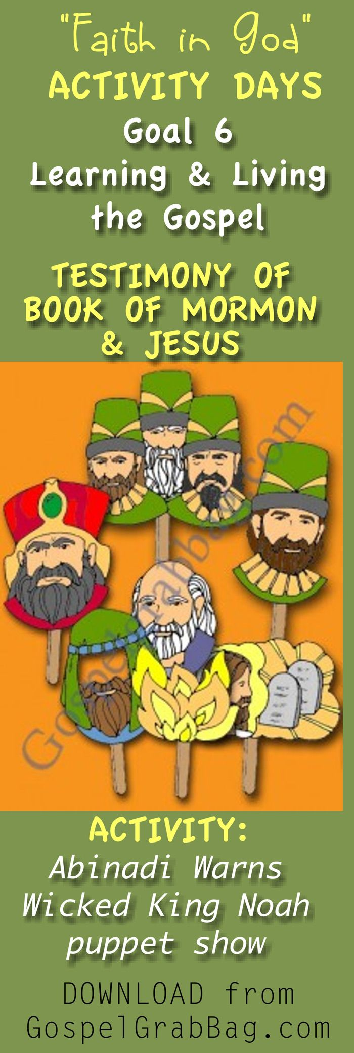 Book Of Mormon Story—abinadi Warns The Wicked King Noah (puppet Show) €�