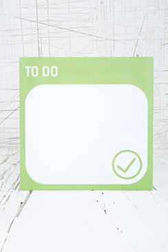 To Do List - Urban Outfitters