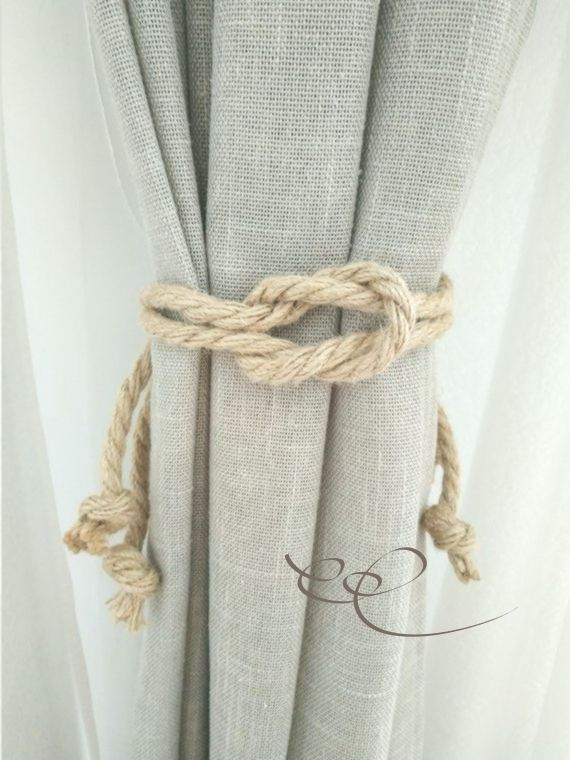 Jute Rope Curtain Tie Backs Nautical