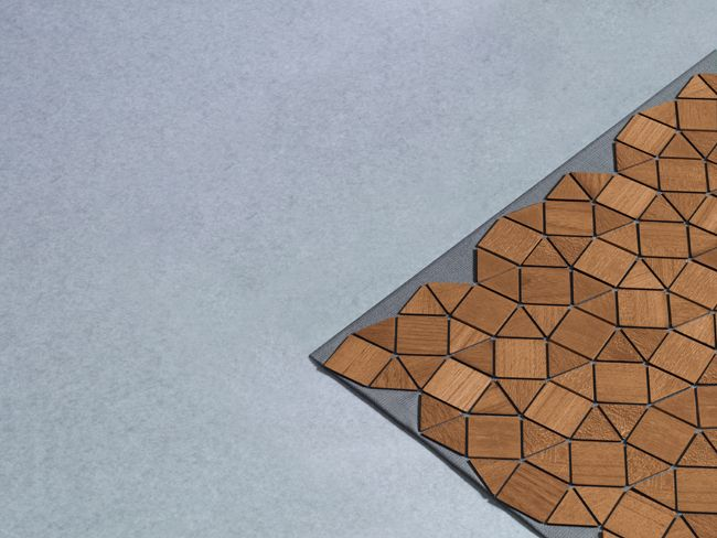 Wonderfully Geometric Wooden Textile | Jeannie Huang
