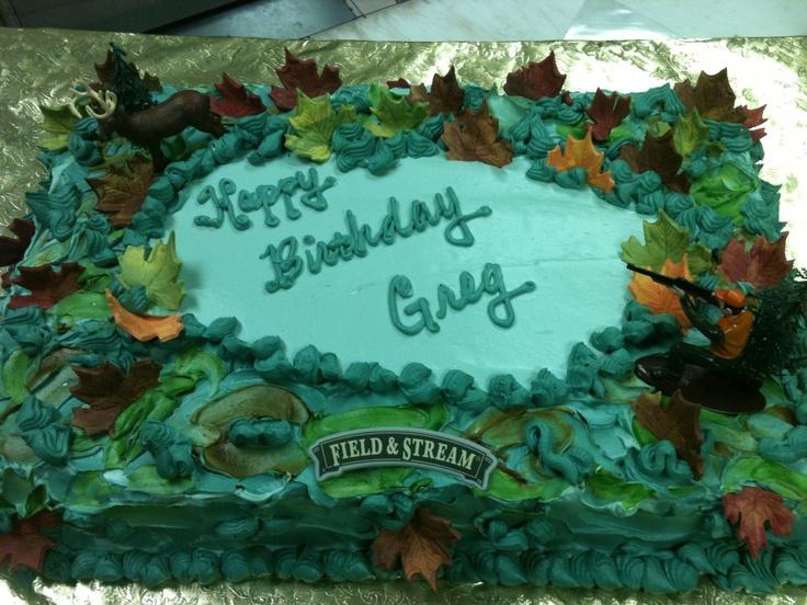 Hunting Birthday Sheetcake triflescakescom birthday sheet cakes