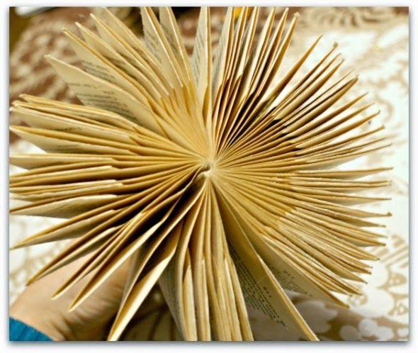 Inspirerad av Lantliga Linda testade jag på att göra lite eget julpynt och vika en julgran av en gammal bok. Man behöver en pocketbok som m...