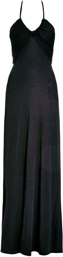 Pin for Later: Beautiful Bridesmaid Dresses That Won't Break the Bank  Next black halter neck maxi dress (£32)