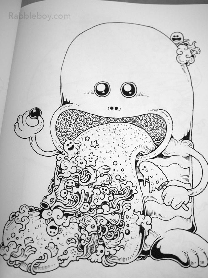 30 Best Doodle Invasion A Crazy Coloring Book By Kerby Rosanes
