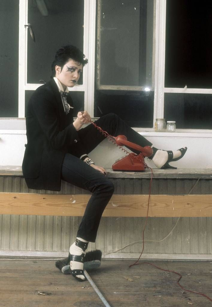 Ray Stevenson/REX/Shutterstock - Siouxsie Sioux at the Track Records office, Londo