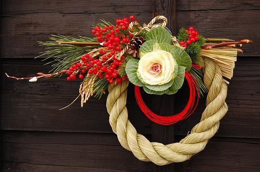葉牡丹の正月飾り
