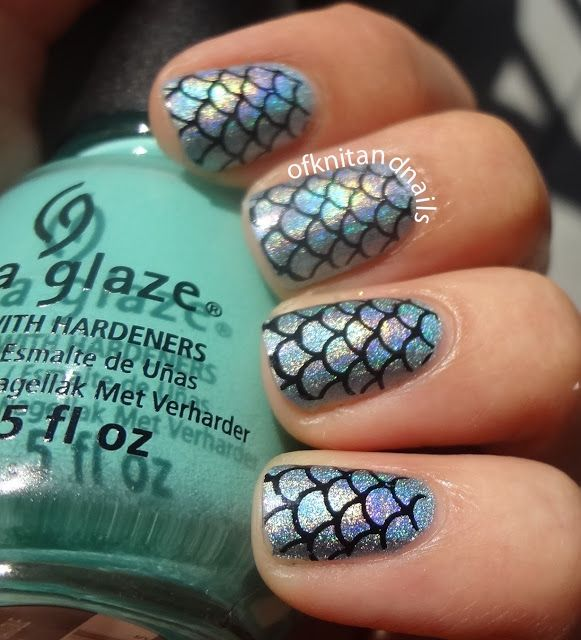 Mermaid nails - Tales of Knit and Nails