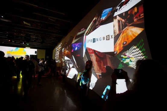 Social Snap at FEED at SXSW 2013 - an interactive projection mapped sculpture.