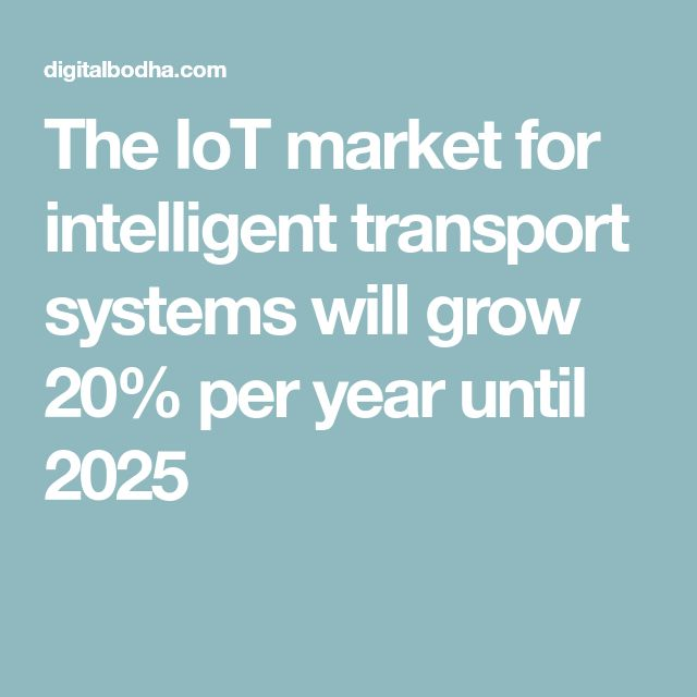 The IoT market for intelligent transport systems will grow 20% per year until 2025