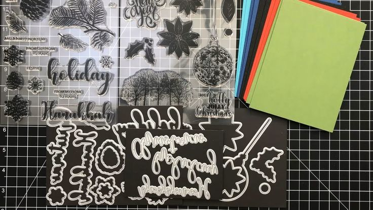 card making video tutorial using  Gina K Stamp TV Kit: Merry and Bright  .... lots of info for general card making .. pretty cards too ...