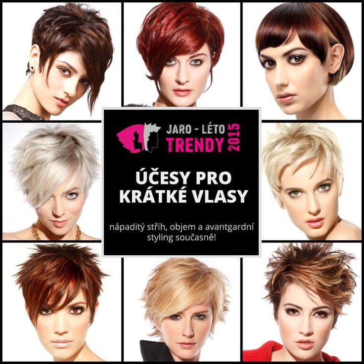 Účesy pro krátké vlasy jaro/léto 2015 – vyberte si nový jarní účes! Účesové…