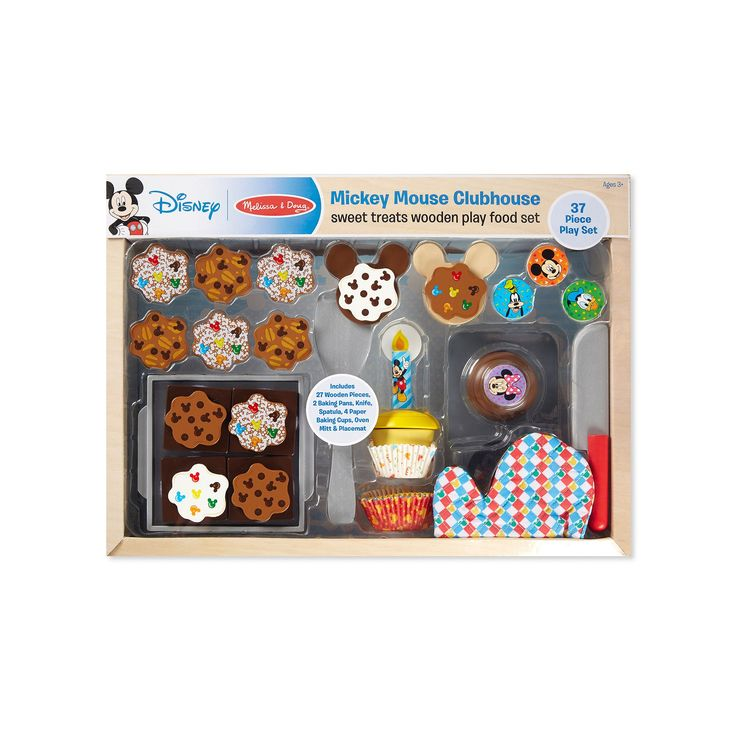 Mickey Mouse Clubhouse Sweet Treats Wooden Play Food Set by Melissa & Doug, Multicolor