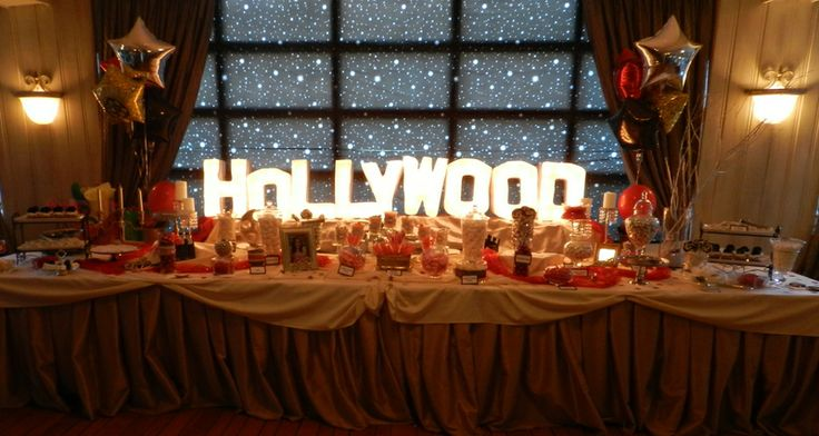 Candy Bar Hollywood Themed Party Installation