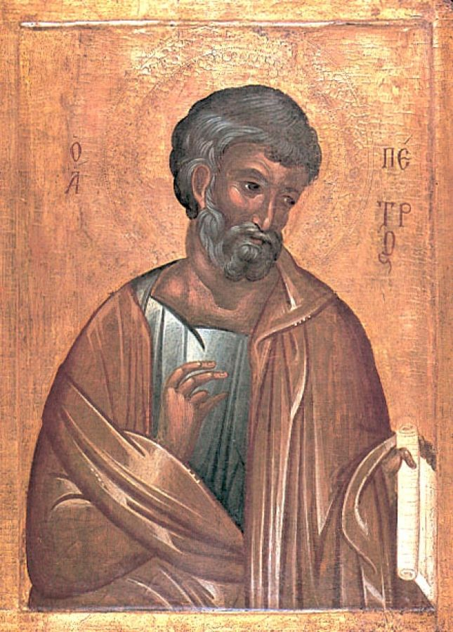 Icon of Saint Peter the Apostle, Courtesy of www.oca.org
