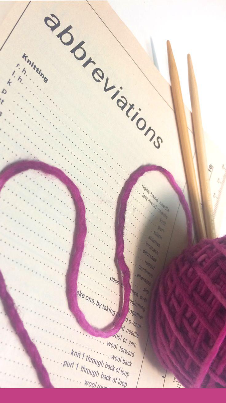 Knitting Abbreviations + Stitch Glossary by Studio Knit via @StudioKnit
