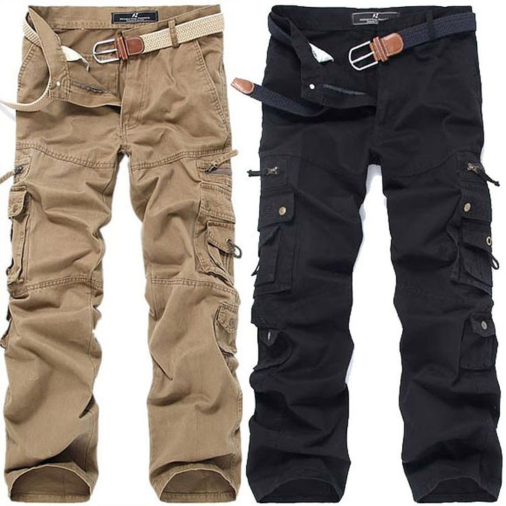 new arrival Mens Big Size Army Pants Hip-Hop washed cotton multi-pocket Military cargo pants