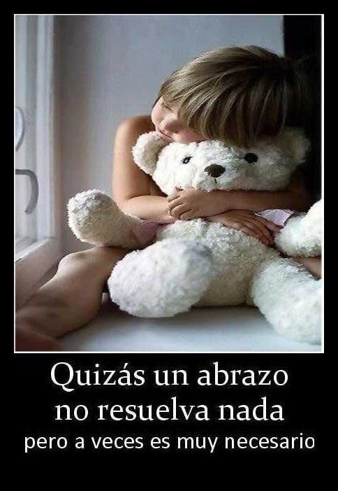 imagenes onita com frasece   Imagen con frase bonita de abrazos   Frases de Amor   Imagenes bonitas ...