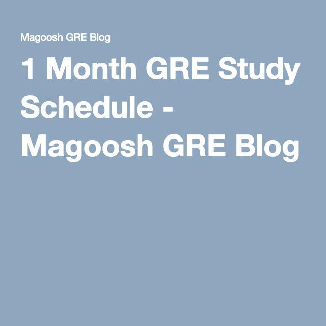 1 Month GRE Study Schedule - Magoosh GRE Blog