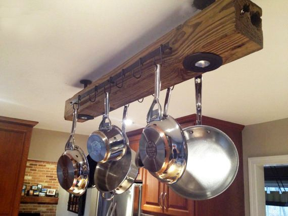 50 Trendy Reclaimed Wood Furniture And Decor Ideas For Living Green. Pot  Hanger KitchenKitchen ...