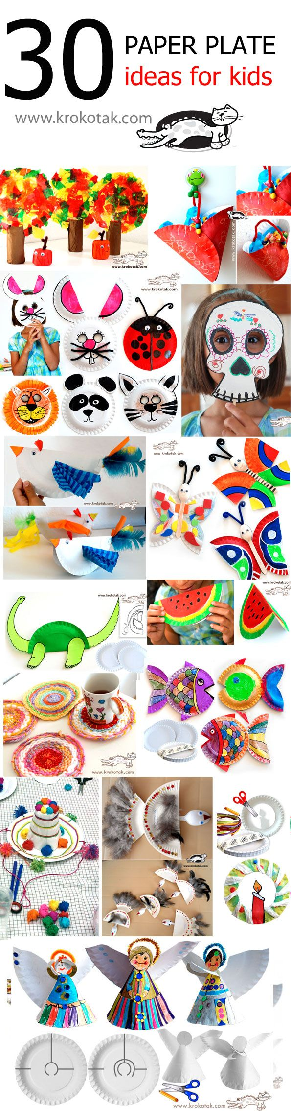 PAPER PLATE Ideas for kids by krokotak.com
