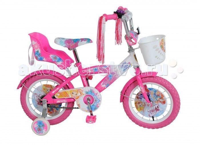 Велосипед двухколесный Navigator Winx 14 T1  Велосипед Navigator Winx 14 T1 - это хорошо собранный и надёжный велосипед для ребёнка.   Особенности: Тип: детский Материал рамы: сталь Амортизация: отсутствует Конструкция вилки: жесткая Конструкция рулевой колонки: неинтегрированная, резьбовая Диаметр колес: 14 дюймов Материал обода: алюминиевый сплав Двойной обод: нет Материал бортировочного шнура: металл Возможность крепления боковых колес: есть Боковые колеса в комплекте: есть Тип переднего…
