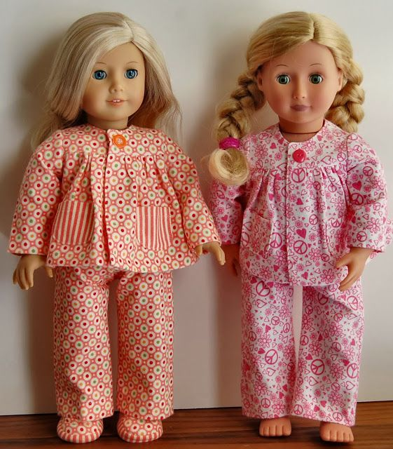 cute website for AG things. Link to the pj pattern and the slippers--plus she has some good tips on making the slippers.