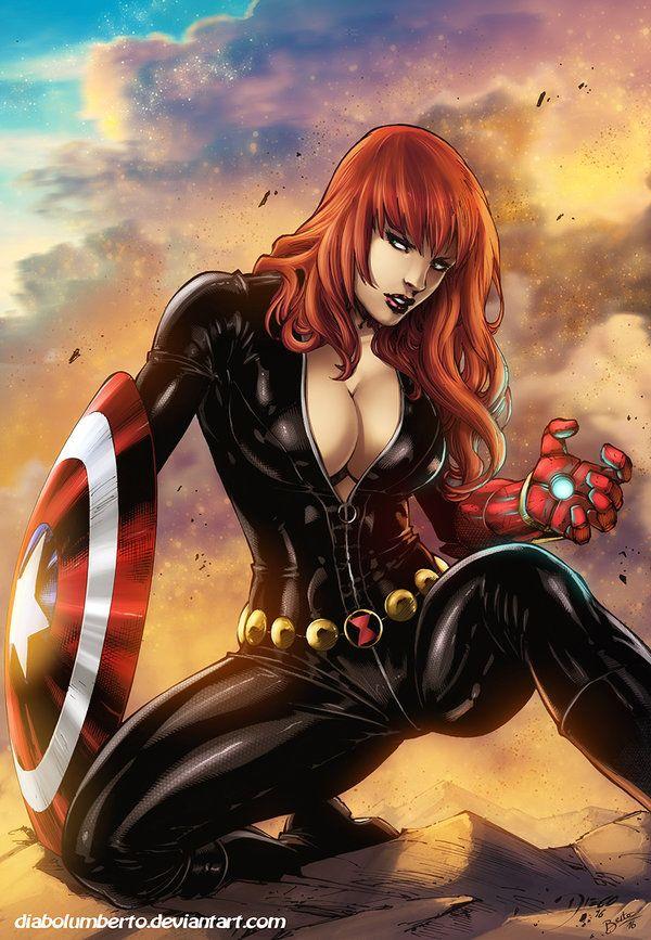 Black Widow By Diabolumbertodeviantart On DeviantArt Anime ComicsBatman