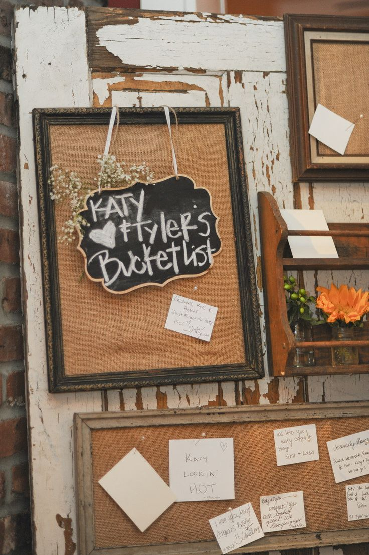 great idea instead of a guest book- have each guest put a